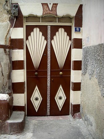 a painted metal door, Damascus