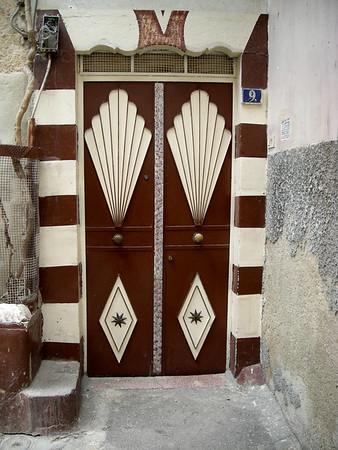 a painted metal door, Damascus