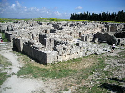 some of the ruins at Ugarit (1500 - 1200 BC).  The earliest written alphabet was found at this site.