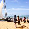 Fishing boats on Negombo Beach