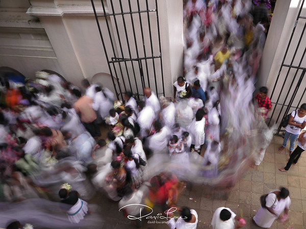 Vesak day (17 May 2011) - Thousands of devotees streaming into the temple.