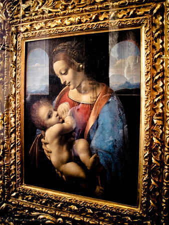 Madonna and Child (Madonna Litta) by Leonardo da Vinci in the Hermitage