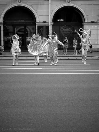 Crossing Nevsky Avenue