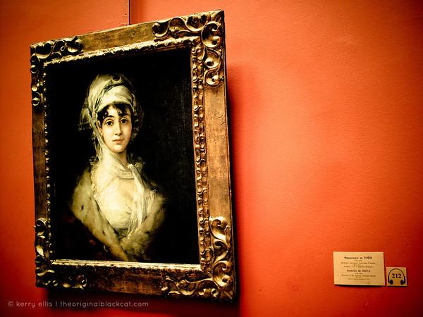 Portrait of the Actress Antonia Zarate by Francisco de Goya in he Hermitage