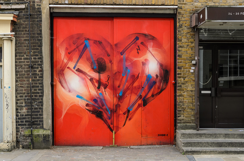 Shok-1 in Fournier Street, Brick Lane & Spitalfields, East London