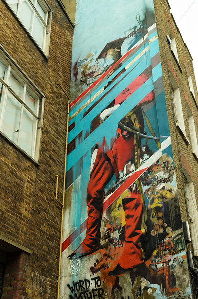 Conor Harrington, by the Old Truman Brewery, Brick Lane & Spitalfields, East London
