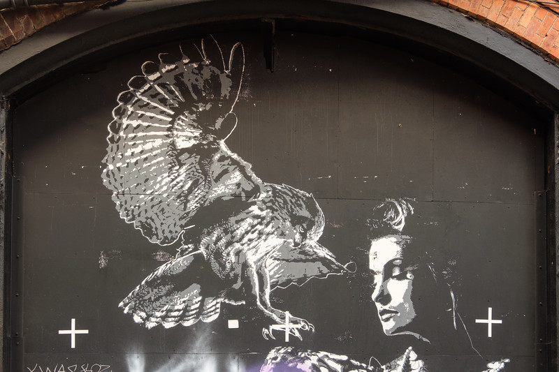 "The Polish street artist ""Tankpetrol"", Manchester Northern Quarter"