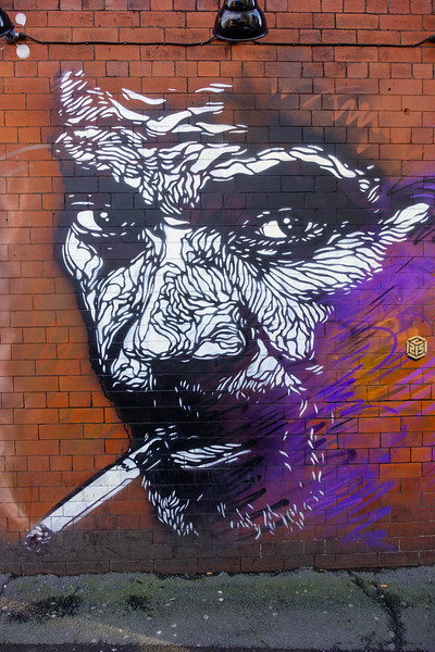Christian Guémy a/k/a C215 (Cities of Hope 2016) in Manchester, Northern Quarter