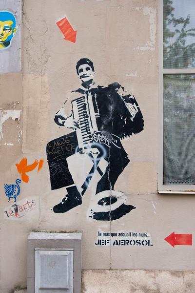 More by Jef Aérosol (Jean-François Perroy), Butte-aux-Cailles, Paris (13th)