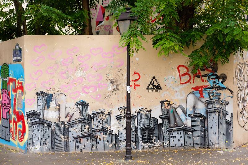 La place de la Commune-de-Paris, Butte-aux-Cailles, Paris (13th)