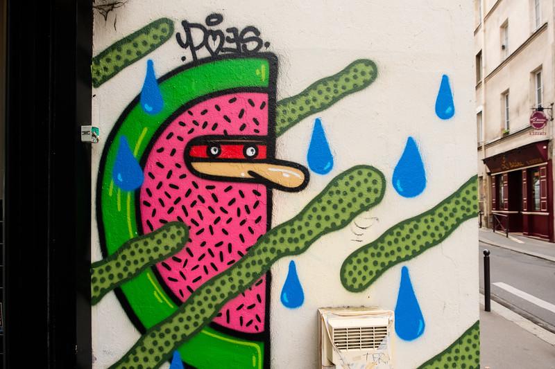 Street art in the 13th, Paris