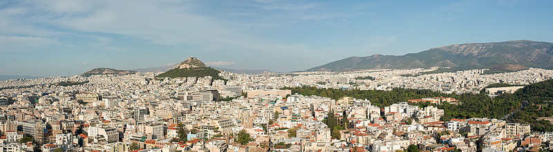 A view of the city.