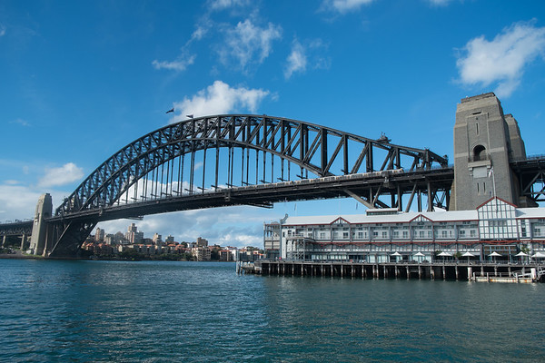 Sydney Harbour bridge from the Rocks