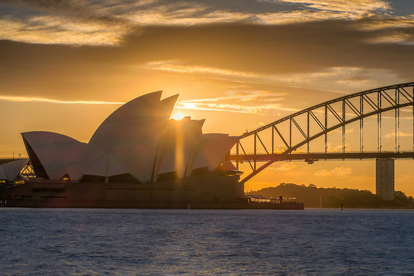 Sunset over the Opera house