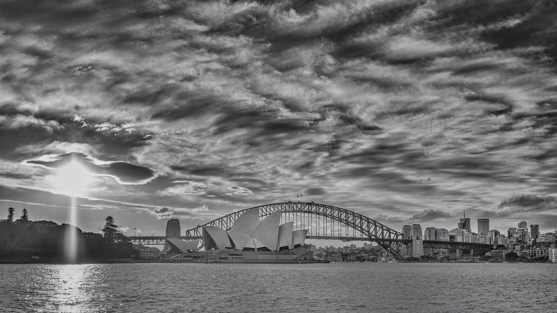 Sydney harbour before sunset