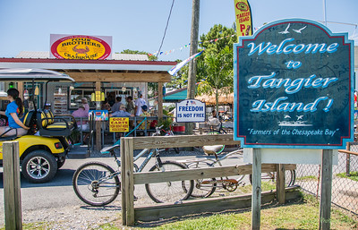 Four Brothers Crabhouse is a center of activity throughout the day and early evenings as it serves an array of beach foods as well is the only place in town to rent bicycles and golf carts.