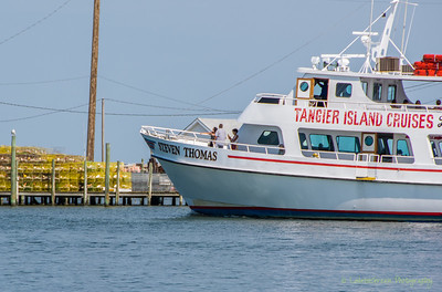 The Steven Thomas provides ferry service between Crisfield, MD and Tangier Island.