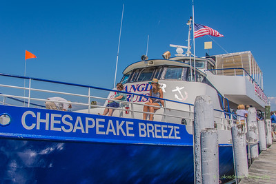 During the height of tourist season the Chesapeake Breeze provides daily ferry service between Reedville, VA and Tangier Island.