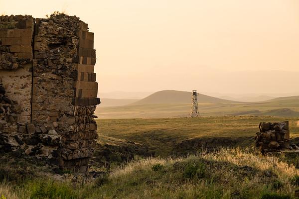 Guard Tower outside of Ani. Eastern Turkey.