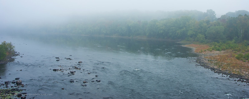 View along the river in the Delaware Water Gap.