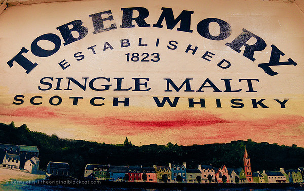 Painted mural inside the Tobermory distillery