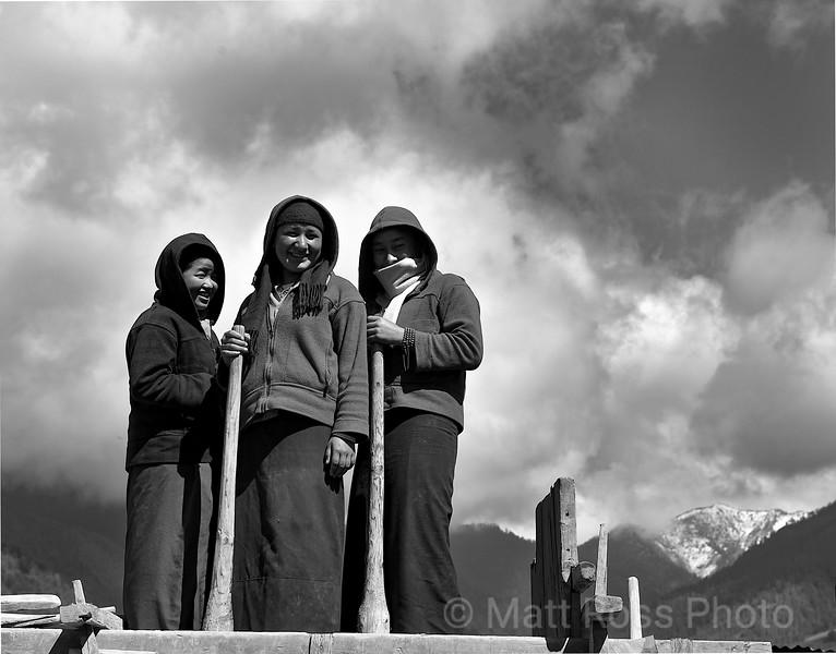 Bhutanese Women Construction Workers