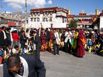 in front of the Jokhang Temple, Lhasa