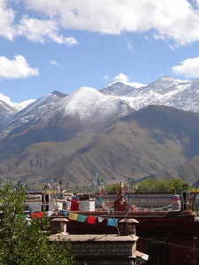 hotel window view, Lhasa
