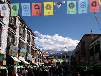 on the kora route around the Jokhang Temple, Lhasa