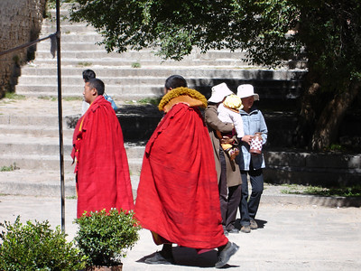 monks at Sera Monastery, Tibet