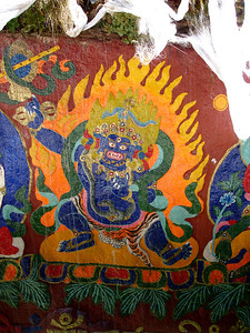 rock paintings, Sera Monastery