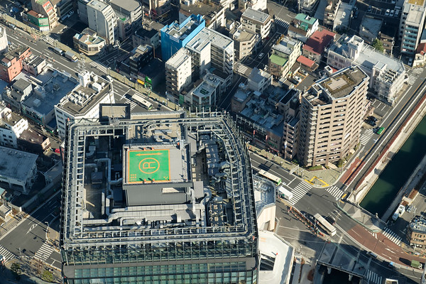 Top of a building from Tokyo Skytree