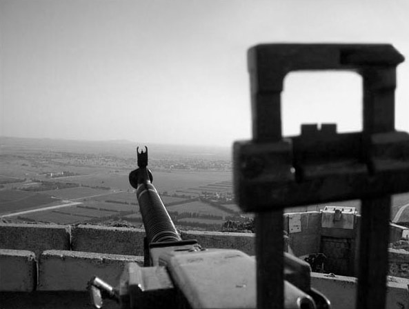 View from Golan Heights overlooking Syria - Israel