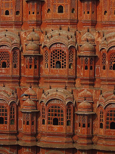 window screens in the Palace of the Wings, Jaipur, India