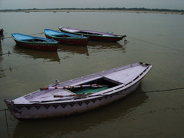 morning boats on the Ganges