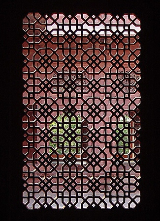 sandstone window screen at Fatipur Sikri, India