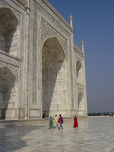 an entrance into the Taj Mahal