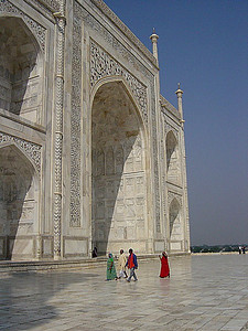 an entrance into the Taj Mahal