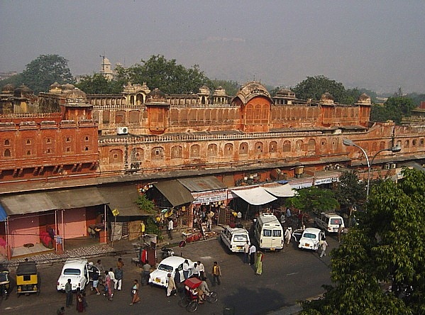 market area along the Palace of the Winds, Jaipur