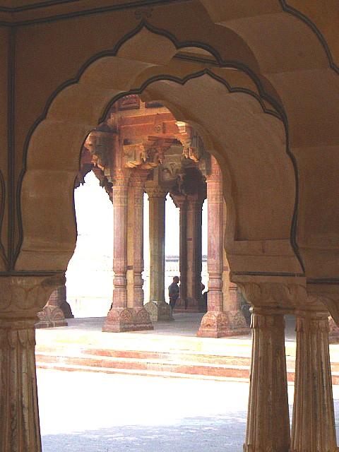inside the Amber Palace, Jaipur