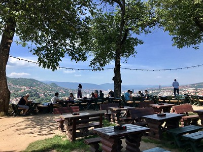 at the Yellow Bastion, Vratnik overlooking Sarajevo