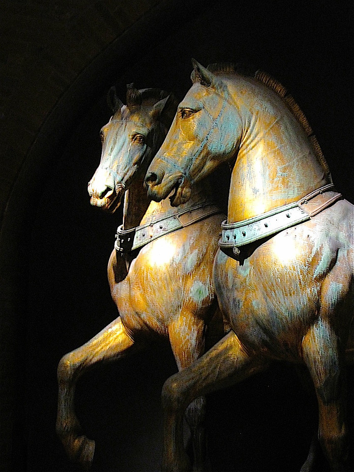 The original horses from the Basilica San Marco, Venice