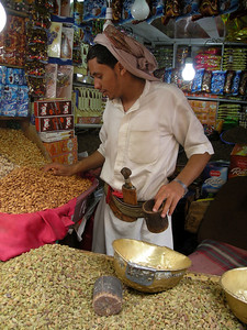 a nut seller in old Sana'a
