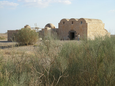 Qusayr Amra (World Heritage Site) in the eastern desert of Jordan.  Assumed pre-700 AD