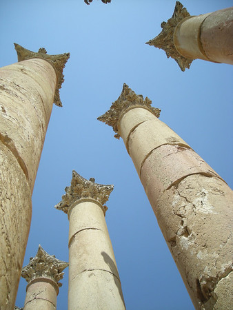 at the Temple of Artemis, Jerash, Jordan