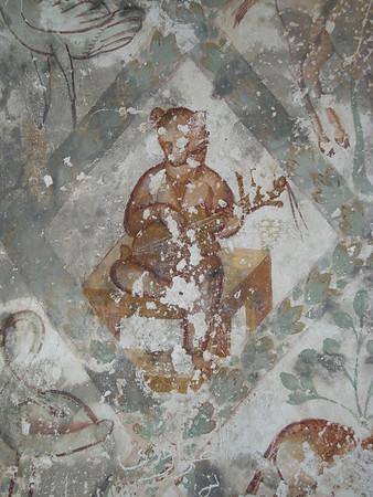 Music playing bear frescoe at Qusayr Amra, Jordan