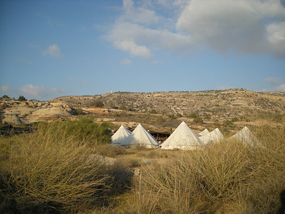 A campsite at Dana Nature Preserve, Jordan