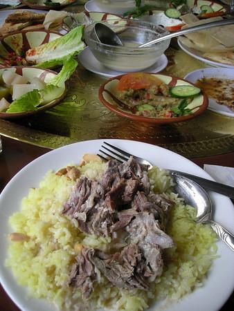 a traditional Jordanian dish, Mansaf