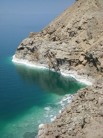 On the Dead Sea coast, Jordan