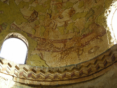 Frescoes on dome ceiling, Qusayr Amra, Jordan